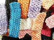 """Crochet Stretchy Baby Headbands Choose from Several Colors 1.75"""" (GB659)"""