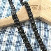 "Black Beaded Sewing and Craft Trim w/ Fabric Backing 3/8"" (GB664)"