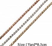 RMGB749 Remnant Variety of Sizes Gold Single Row SS12 Crystal Rhinestone Trim Setting Chain Bridal Bling