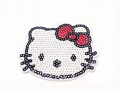 "Hello Kitty Sequin Applique  2.5"" GB825"