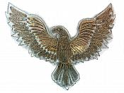 "Eagle Applique Embroidered Metallic Gold Patch Clothing Sewing Design 12.5"" GB882"