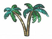 """Palm Trees Sequin Applique Clothing Crafts Patch 11"""" GB829"""