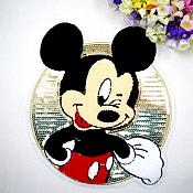 "Mickey Mouse Sequin 3d Loop Applique  9"" GB838"
