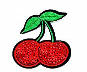 """Cherry Sequin Embroidered Applique  3"""" GB844"""