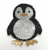 """Penguin Applique Color Changing Sequins Patch   8.5"""" GB851"""