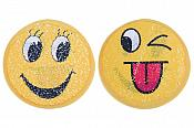 "Smiling Emoji Applique Changing Sequins Patch 7"" GB854"