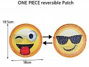 "Emoji Applique Changing Patch Sequin 7"" GB855"