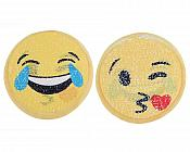 "LOL Laughing Emoji Applique Changing Sequin Patch 7"" GB856"