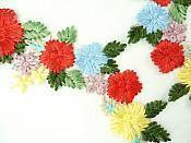 """Multi-Color Floral Venise Lace Mirror Pair Appliques 8""""  GB867X"""