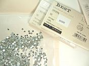 Crystal Clear Glass Flat Back Rhinestones SS10 1440 Pieces High Quality Glue on Non Hotfix DIY Crafts Clothing Nails GB877