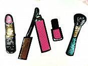 Makeup Lipstick Appliques Sequin Patch Set of 4 pieces GB895