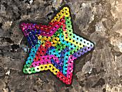 Star Applique Sequin Multi-Color Iron on Patch for Clothing or Crafts GB933