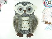 "Owl Applique Multi-Color Patch for Clothing or Crafts 10"" GB936"