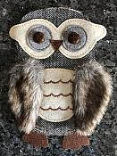 """Owl Applique Multi-Color Patch for Clothing or Crafts 10"""" GB936"""