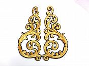 "Embroidered Appliques Gold Black Metallic Iron On Mirror Pairs 3.5"" GB950X"