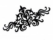 "Embroidered Applique Black Sewing Clothing Patch Iron on 6"" GB952"