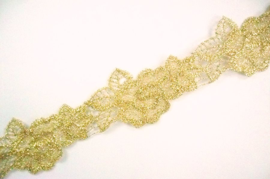 GB988 Metallic Gold Venice Lace Victorian Sewing Trim 1.75""
