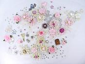 "Unique Sewing Applique Pink Floral Thimble Cameo Blue Bird Patch 14"" GH"