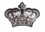 """Sequin Crown Applique Iron on Patch Large 9.5"""" (GB662)"""