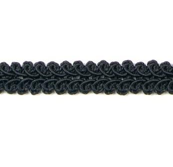 "RME1901 REMNANT Black Gimp Sewing Upholstery Trim 24"""