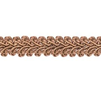 """E1901  CoCo Brown Gimp Sewing Upholstery Trim 1/2"""""""