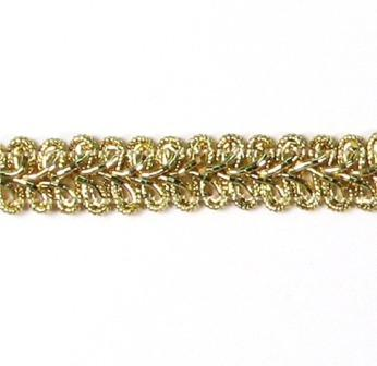 "RME1901 REMNANT 22"" Gold Metallic Gimp Sewing Upholstery Trim"