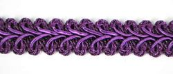 "RME1901 (11"" REMNANT) Purple Gimp Sewing Upholstery Trim"