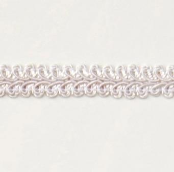 "E1901  White Gimp Sewing Upholstery Trim 1/2"""