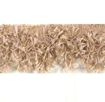 ( RESERVED FOR LAURIE FACEBOOK SPECIAL ) E2585 Beige Hairy Gimp Fringe Sewing Trim
