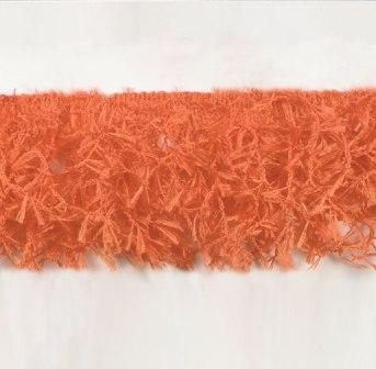 E2585 Orange Hairy Gimp Fringe Sewing Trim