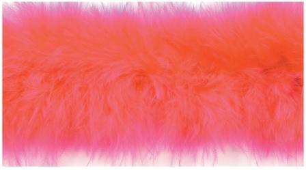 """E3760  Fuchsia Marabou Feather Fur Sewing Trim 2"""""""