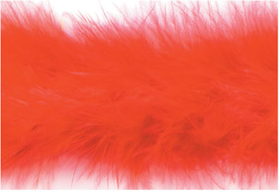 """E3760 Red Marabou Feather Fur Sewing Trim 2"""""""