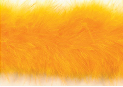 E3760 Yellow Marabou Feather Fur Sewing Trim 2""