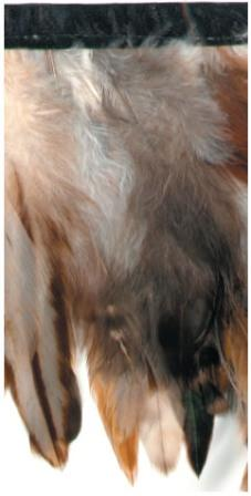 """E3769 Brown Mix Marabou Feather Sewing Trim 5"""""""