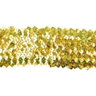 E4564  Gold Stretch Starlight Sequin Trim