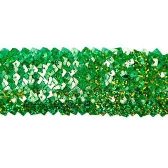 "REMNANT Lime Green Stretch Starlight Sequin Trim 20"" (RME4564)"