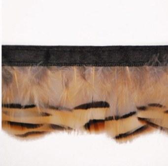 "E6145  Beige Marabou Feather Sewing Trim 2"""