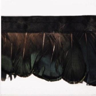 "E6148  Peacock Marabou Feather Sewing Trim 2"""
