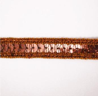 E6172  Holographic Bronze Sequin Sewing Trim