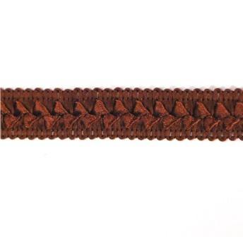 "E6182  Chocolate Brown Lattice Gimp Sewing Craft Trim 3/4"""