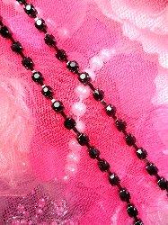"JB148  Black Elegant Rhinestone Chain Sewing Trim 1/8"""