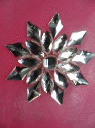 "JB192 Crystal Clear Rhinestone Jewel Snowflake Iron on Applique 1.75"""