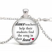 Dance Teacher Necklace Silver Costume Jewelry  JW102