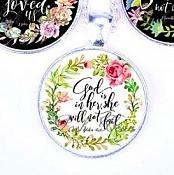 Scripture Necklace God Is In Her She Will Not Fail Pendant Inspirational Christian Jewelry w/ Silver Chain JW111