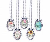 Scripture Necklace A Happy Heart Has A Continual Feast Dove Pendant Inspirational Christian Jewelry w/ Silver Chain JW207