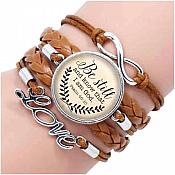 """Bracelet Scripture Pendant """"Be Still and Know that I am God"""" Inspirational Christian Jewelry JW292"""