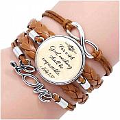 "Bracelet Scripture Pendant ""For With God Nothing Shall be Impossible"" Inspirational Christian Jewelry  JW293"