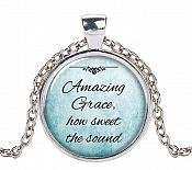"Favorite Hymn Necklace ""Amazing Grace How Sweet the Sound"" Pendant Inspiration From John Newton JW294"