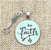Necklace Have Faith Pendant Inspirational Christian Jewelry w/ Silver Chain JW301