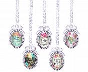 Christian Necklace Pendant Scriptures Inspirational Motivational Quotes Silver Jewelry JW308 - JW312